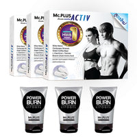 Mc.PLUS ACTIV (Dietary Supplement Product for Losing Weight) 3 Boxes + Mc.PLUS POWER BURN (Reduce Fat Sliming Gel Cool Cream) 3 tubes