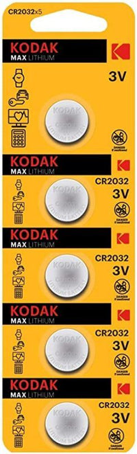 KODAK MAX CR2032 Lithium 3V Batteries – 5 Pieces