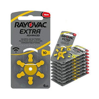 Rayovac Extra Advanced Hearing Aid Batteries Size 10 – 60 Batteries