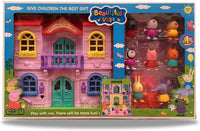 Beautiful Villa With Lights and 8 Figures, The Best Gift For Children For Ages 3 +
