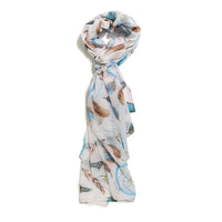 Scarf Affair Feather Blue Scarf