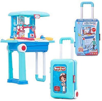Little Doctor Play Set 2 in 1 For Kids With Suitcase Trolley, For Ages 3 +