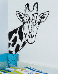 Spoil Your Wall - Wall Decal Giraffe Decal Black 100x76centimeter