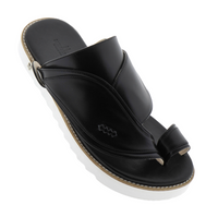 Neqwa Arabic Traditional Sandals Ibiza - Black Leather