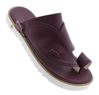 Neqwa Arabic Traditional Sandals Ibiza - Burgundy Leather