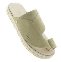 Neqwa Arabic Traditional Sandals Marbella - Beige Velour Leather