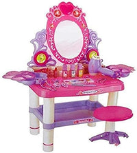 Beauty Girl Dresser Table Play Set With Mirror, Music & Light - 3 Years & Above