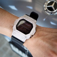 Luxury Watch G-Shock Crystal Bling GX-56 White Silver Iced Out