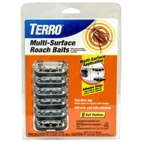 TERRO? Multi-Surface Roach Baits - 6 Bait Stations