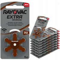 Rayovac Extra Advanced Hearing Aid Batteries Size 312 – 60 Batteries