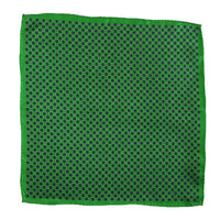 Imperialist - The Green Rein Silk Pocket Square for men