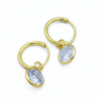 Hanging Round – Gold Ear Hoops