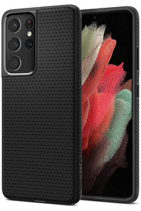 Spigen Liquid Air designed for Samsung Galaxy S21 ULTRA case cover - Matte Black