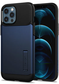 Spigen Slim Armor designed for iPhone 12 Pro MAX case cover - Navy Blue