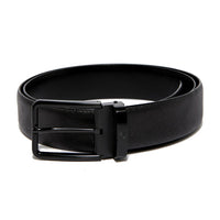 Black Saffiano Leather Belt Strap + Imperial Piercer - Black Buckle