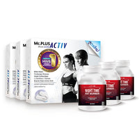 Mc.PLUS ACTIV (Dietary Supplement Product for Losing Weight) 3 Boxes + Night Time Fat Burner 3 Bottles