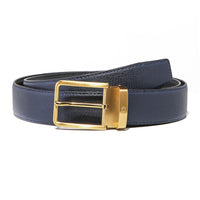 Grained Midnight Blue Belt Strap + Imperial Piercer - Gold Buckle