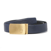 Grained Midnight Blue Belt Strap + Brashy Imperial - Gold Buckle