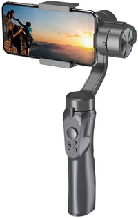 GOSMART 3-Axis Gimbal Handheld Stabilizer for Smartphone, Support 320° panning, 180° rolling, 320° tilting meeting various Shooting angles, Horizontal and Vertical Shooting.