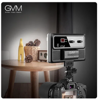 LED On-Camera RGB LED Video Light with Wi-Fi Control - GVM RGB-10S