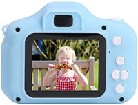 Mini Rechargeable Photo/Video Camera For Kids,Suitable For Ages 3 + (Blue)
