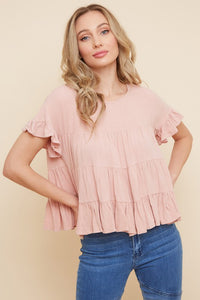 Emma Tiered Linen Top