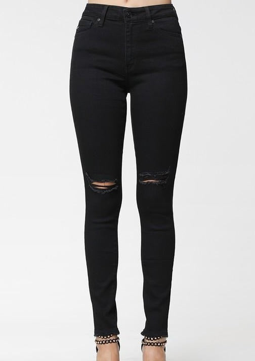 Distressed Jeans- Black