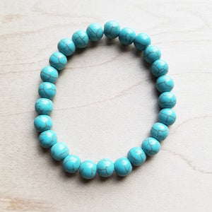 Bracelet Bar-Blue Turquoise Stackable Bracelet