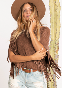 Jane Fringed Tee