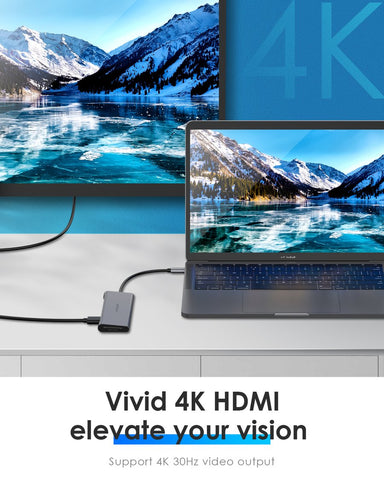 USB C Hub with 4K HDMI and SD Card Reader