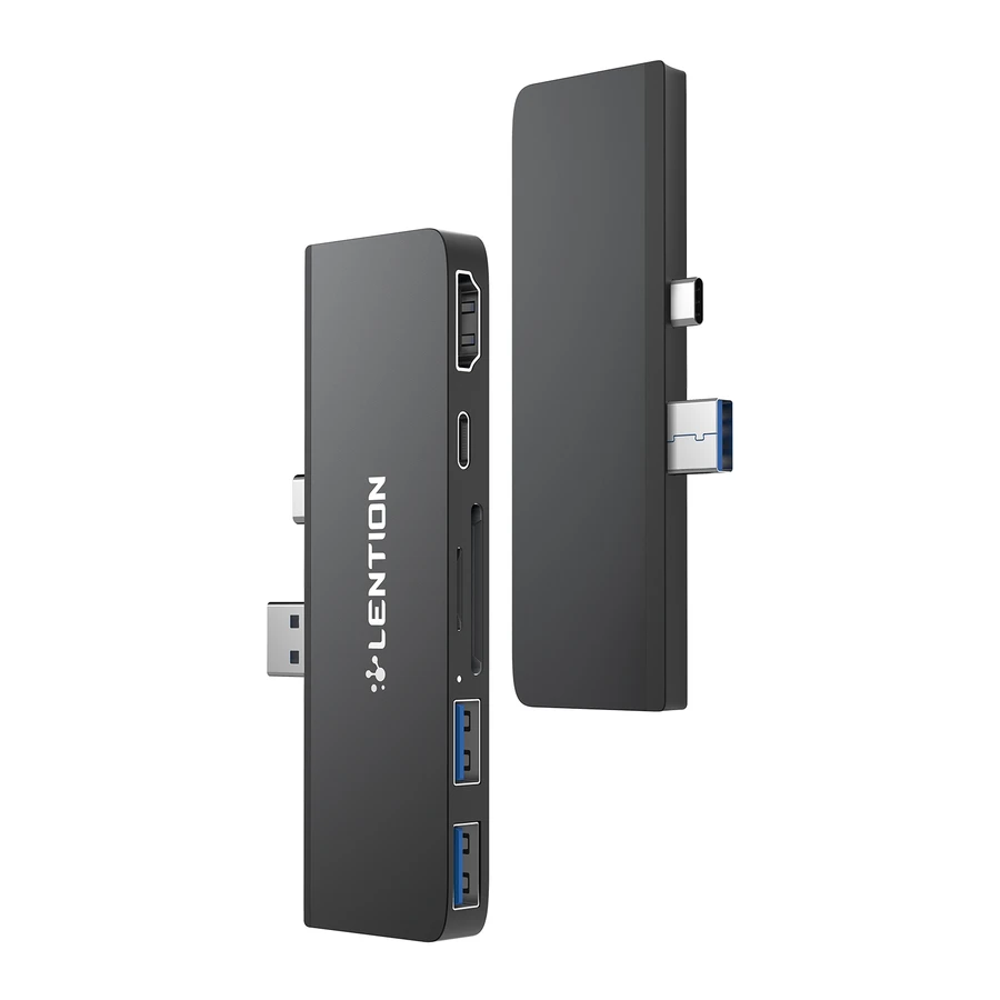 6-in-1 USB C Hub for Surface Pro 7 Only