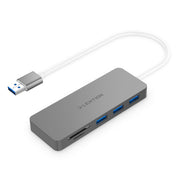 Lention.com: Lention 3-Port USB 3.0 Type A Hub, with SD/Micro SD Card Reader [US/UK/CA Warehouse In Stock], for MacBook Air (2009-2017, Previous Generation), Pro 13/15 (2008-2015, Previous Generation), Chromebook, Surface, and more with USB-A port