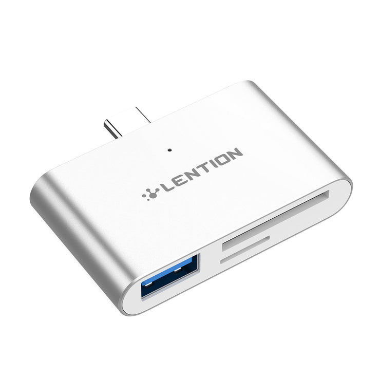 LENTION USB C to SD/Micro SD Card Reader with USB 3.0 Adapter