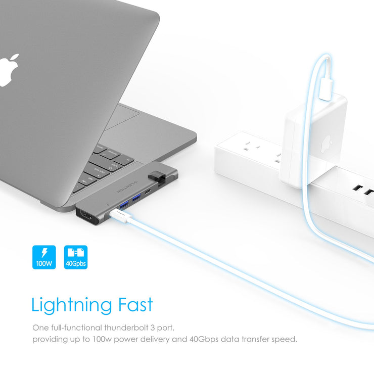 LENTION USB C Portable Hub with 100W Power Delivery-$49.99 | Lention.com