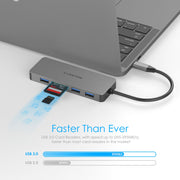 LENTION USB C Hub for MacBook Pro 2019 2018 2017 2016 / MacBook Air 2019 2018 / MacBook 12 / New iMac / iMac Pro - with 4K HDMI, 3 USB 3.0, SD/Micro SD Card Reader | Lention.com