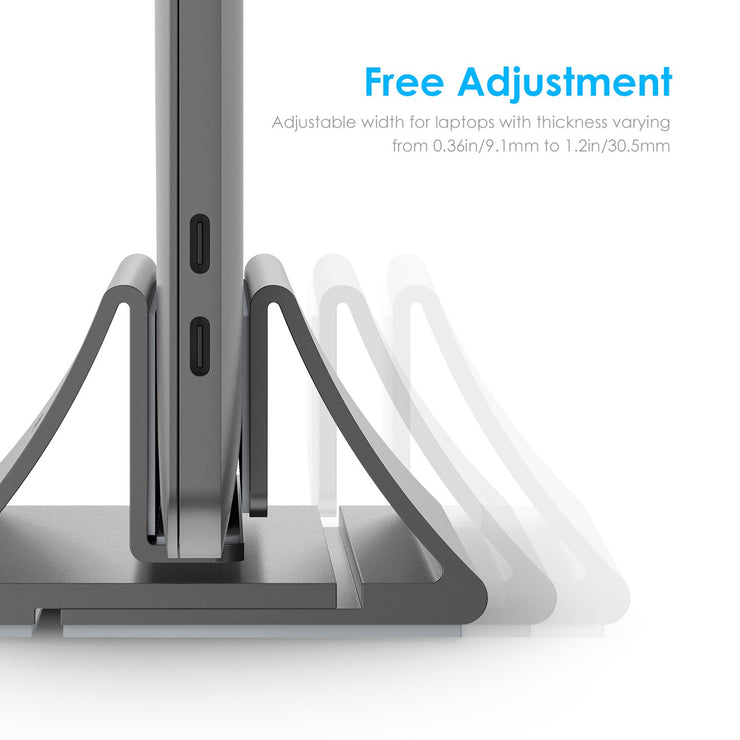 Aluminum Laptop Stand Vertical Desktop Stand for All 11 - 17 Inches Laptop, View Laptop Stand, Product Details from Lention on Lention.com