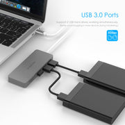 LENTION USB C Hub with 3 USB 3.0 and SD/Micro SD Card Reader (CB-C15)  (US/UK/CA warehouse in Stock)