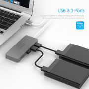 3-Port USB 3.0 Type A Hub with SD/Micro SD Card Reader  | LENTION