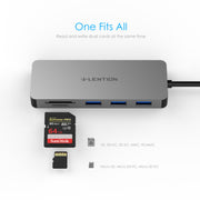 LENTION USB C Hub with 3 USB 3.0, SD/Micro SD Reader and Charging Port (CB-C16s)  (US/UK/CA warehouse in Stock)