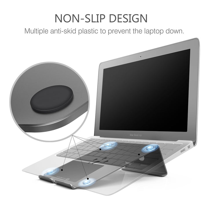 Lention.com: Lention Laptop Stand, Aluminum Laptop Stand, Adjustable Height/Angle,Computer Stand: Office  Products