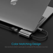 USB C to Gigabit Ethernet Adapter - Space gray/Silver/Rose gold | Lention.com
