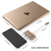 Lention.com: 4-in-1 USB-C Hub with Type C, USB 3.0, USB 2.0 Adapter