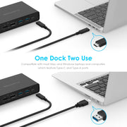 Lention.com USB-C Dock 4K Dual Monitor Laptop Docking Station D92 -  Lention|US