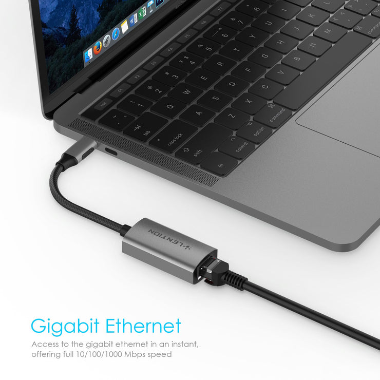 LENTION USB C to Gigabit Ethernet Adapter - Lention.com