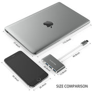 3 USB 3.0 Ports,USB C Power Delivery,Space gray/Silver/Rose Gold/Gold(CB-C13se)|Lention.com