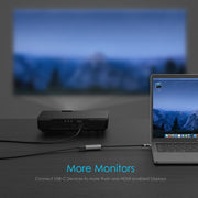 LENTION USB-C to HDMI Adapter For MacBook Support the mirror and extend mode of MacOS, WinOS, ChromeOS. Compatible with New iPad Pro 11/12.9| Lention.com