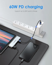 $54.99 -5-in-1 USB C Hub for Surface Pro 7 Only, with 4K/60Hz HDMI, 2 USB 3.0, 60W Type C Charging Multi-Port Adapter