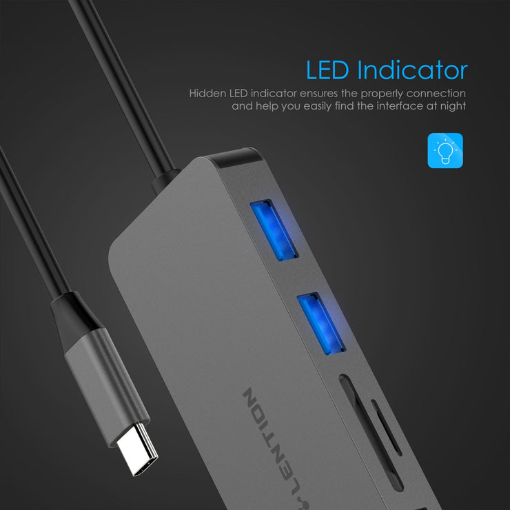 LENTION USB C Hub with 4K HDMI, 3 USB 3.0, SD 3.0 Card Reader - $32.99 -  US/UK/CA Warehouse In Stock| Lention.com