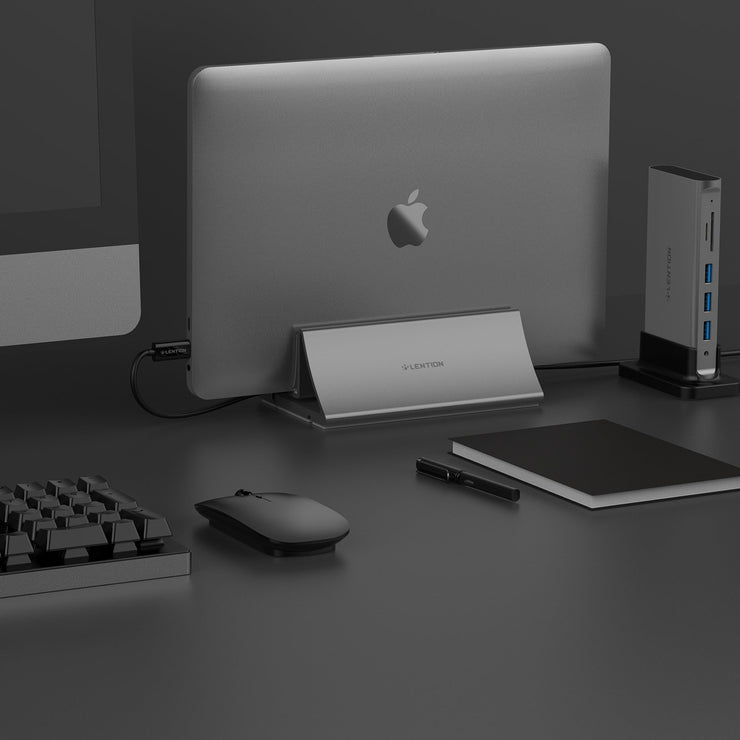 LENTION Aluminum Space-Saving Vertical Desktop Stand (US/CA Warehouses in Stock)
