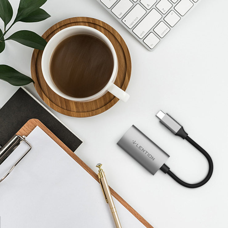 LENTION USB C to Gigabit Ethernet Adapter - Space gray/Silver/Rose gold | Lention.com